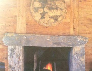 concrete fireplace