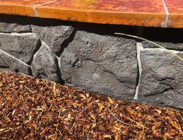 concrete garden wall