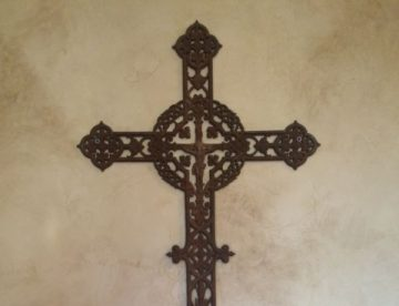 Antique iron cross from Europe