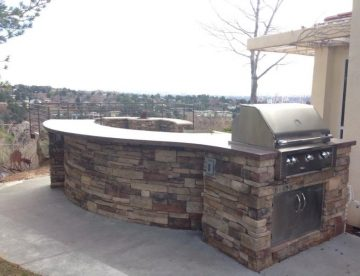 outdoor concrete grill