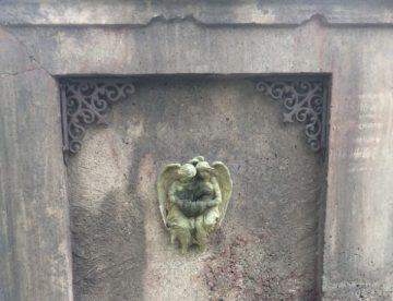 concrete gravestone
